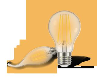 لامپ فیلامنت کملیون - روشن